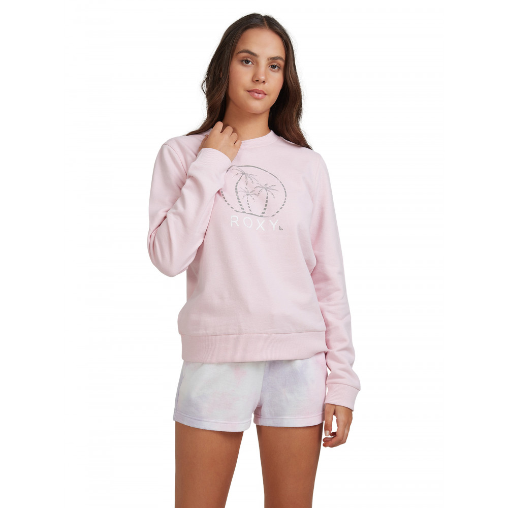 Womens Break It Down Fleece Crew Jumper