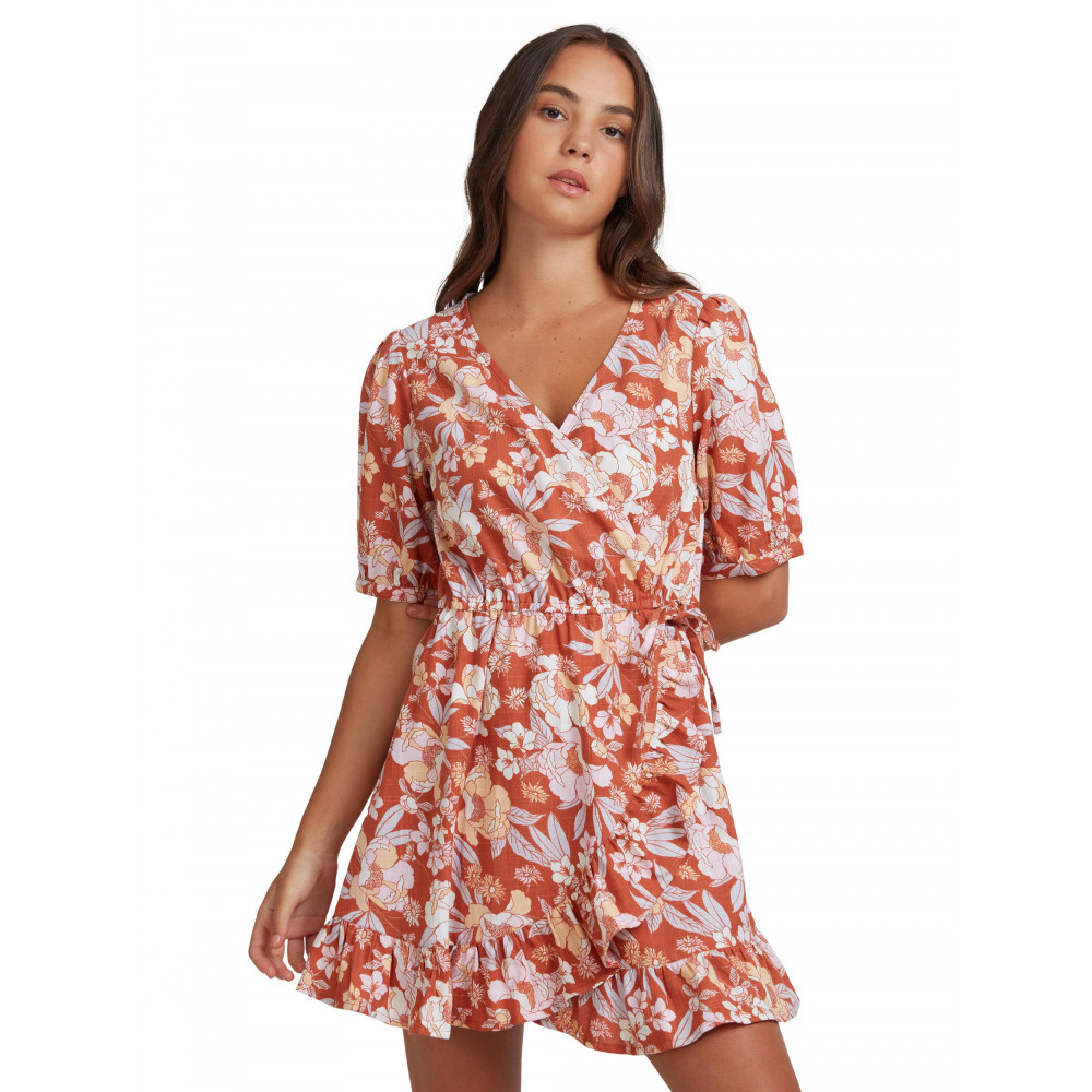 Womens Florence Feels Printed Wrap Dress