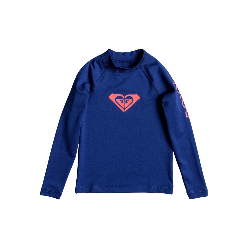Girls 2-7 Whole Hearted Long Sleeve Rash Vest