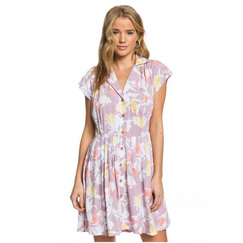 Womens Sunny Days Ahead Short Sleeve Pleated Dress