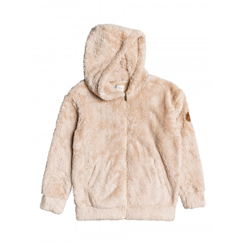 Girls 4-14 Sunny Anyway Oversized Zip Up Sherpa Hoodie
