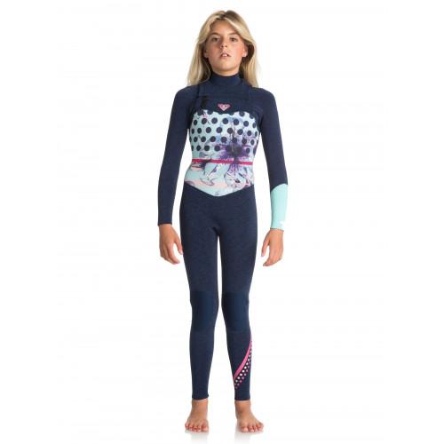 Girls 8-14 3/2mm GBS Pop Surf Chest Zip Steamer Wetsuit