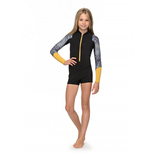 Girls 8-16 2mm Pop Surf Long Sleeve Front Zip Springsuit Wetsuit