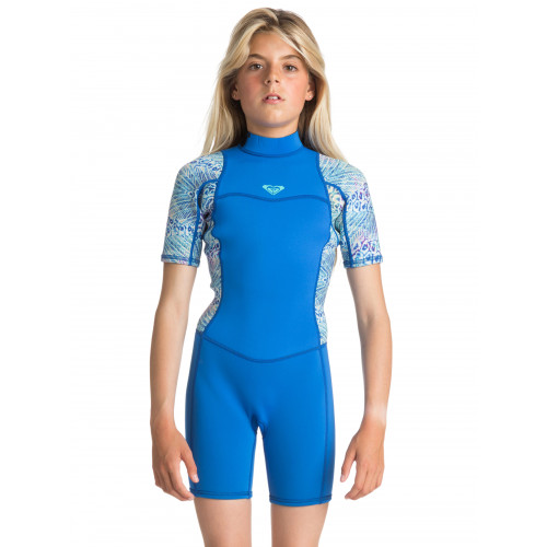 Girls 8-16 Syncro 2/2mm Short Sleeved Back Zip Springsuit Wetsuit