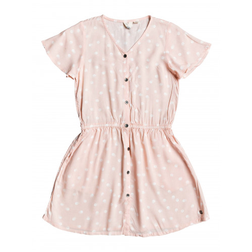 Girls 8-14 Love That Life Short Sleeve Buttoned Dress