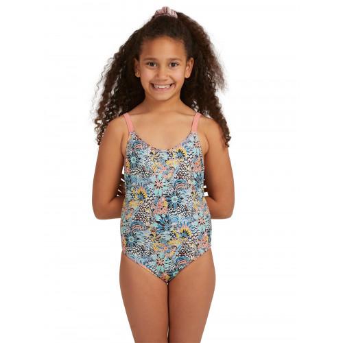 Girls 8-14 Marine Bloom One Piece Swimsuit