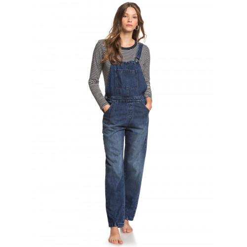 Womens Smile With Me Denim Overalls