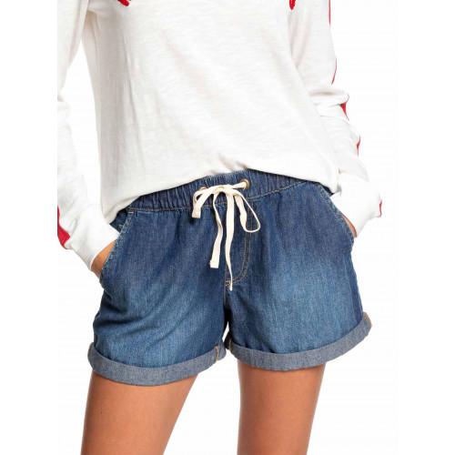 Womens Summer Good Times Elasticated Denim Shorts