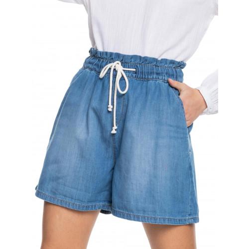 Womens Violet Light Denim Shorts