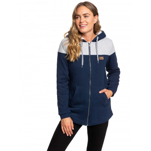 Womens Break Of Dawn Sherpa Lined Zipped Hoodie
