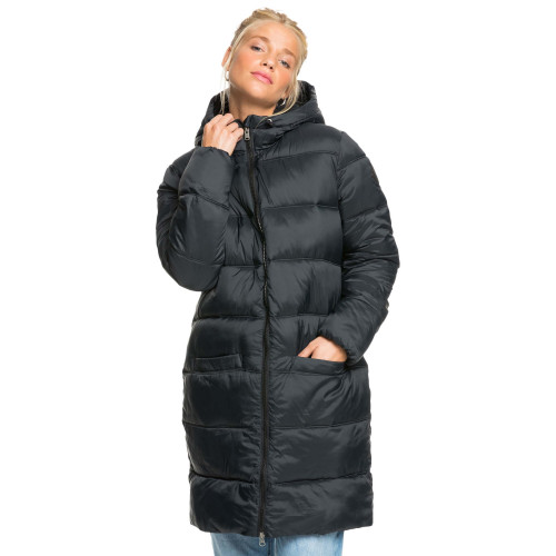 Womens Crest Of The Wave Sherpa Hooded Puffer Jacket