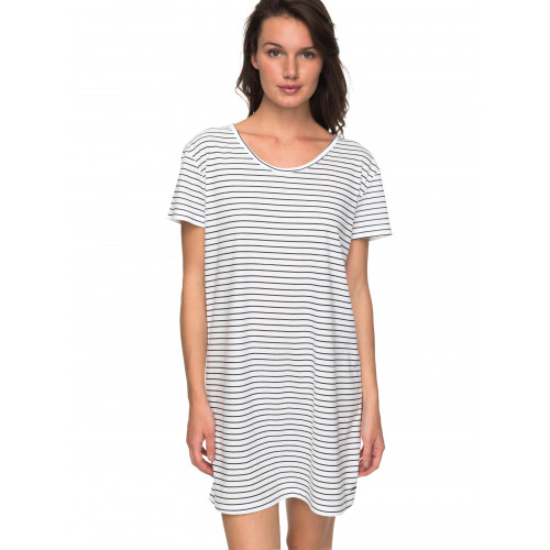 Womens Just Simple Striped T Shirt Dress