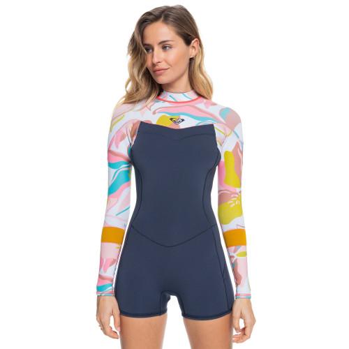 Womens 2/2mm Syncro Back Zip Long Sleeve Springsuit Wetsuit