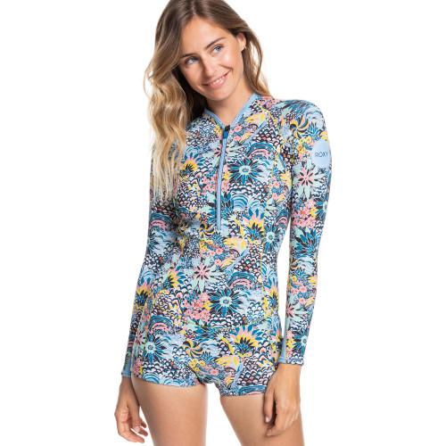 Womens 1.5mm Marine Bloom Front Zip Long Sleeve Springsuit Wetsuit