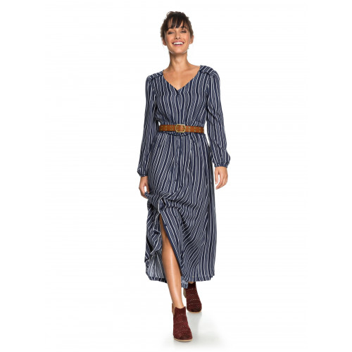 871a62293b7 Womens Subway Atmosphere Long Sleeved Striped Maxi Dress