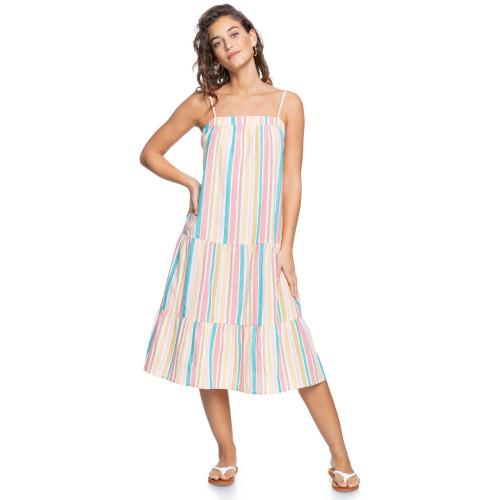 Womens Golden Allure Strappy Midi Dress