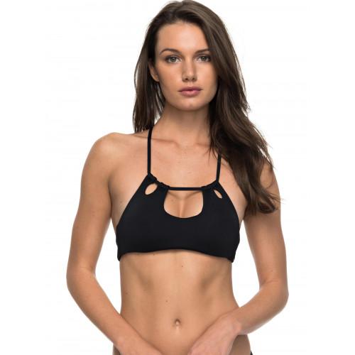 Womens Strappy Love Halter Crop Separate Bikini Top