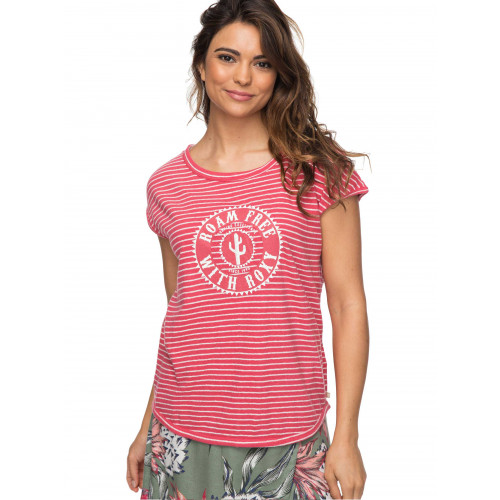 Womens Shades Of Cool Striped Logo T-Shirt