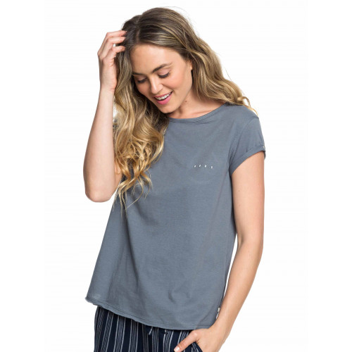 Womens Boho Land Embroidered Roll Sleeve T Shirt
