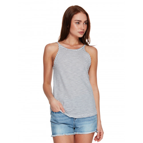 Womens Love Sun Striped Strappy Singlet Top