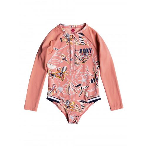 Girls 2-7 Let's Be ROXY Long Sleeved UPF 50 Zipped Onesie