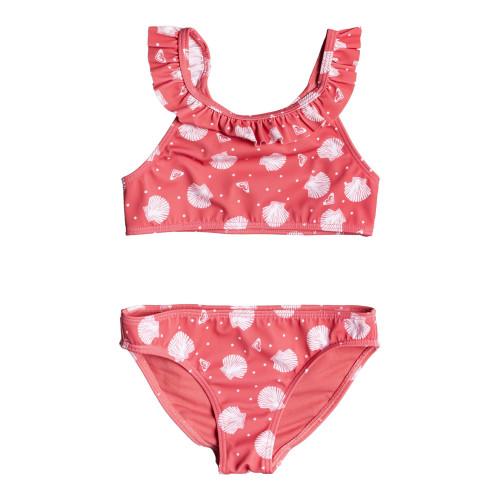 Girls 2-7 Teeny Everglow Crop Top Bikini Set