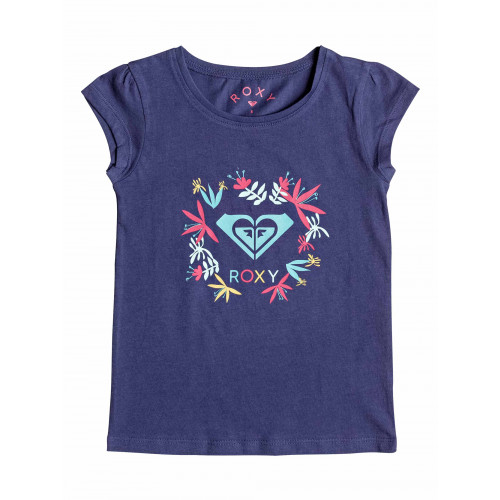 Girls 2-7 Moid Flower Logo Cap Sleeved T Shirt