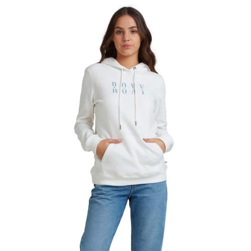 Womens Wave Breaks Logo Fleece Hoodie