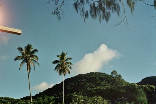 Sis Unfocused in the Seychelles